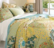 Scalloped Organic Patchwork Quilt by Pottery Barn - love this fresh and springtime look
