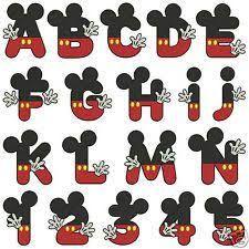 Resultado de imagen para letras de mickey mouse para imprimir