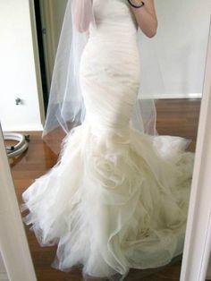 Vera Wang Vera Wang Size 3 Wedding Dress – OnceWed.com | PAID: $7000 ASKING: $2800 save 60% | http://www.oncewed.com/used-wedding-dresses/vera-wang-8/