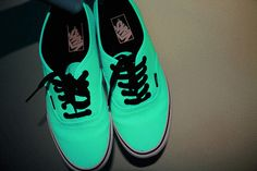 mint vans, want them. although they look kinda neon, cool!