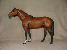 Beswick England Porcelain Horse Model 1564 Large Racehorse Brown   eBay