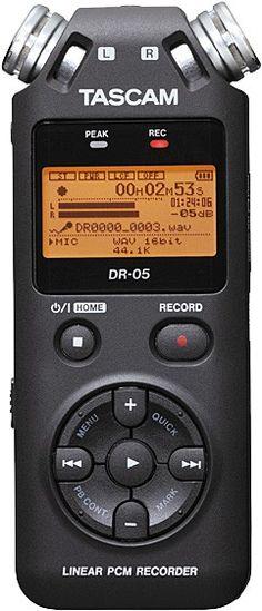 Tascam Portable Handheld Audio Recorder MP3/WAV format