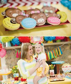 Colorful & Modern Curious George Birthday Party // Hostess with the Mostess®