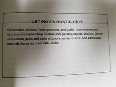 4. Ustinov's Rustic Pâté
