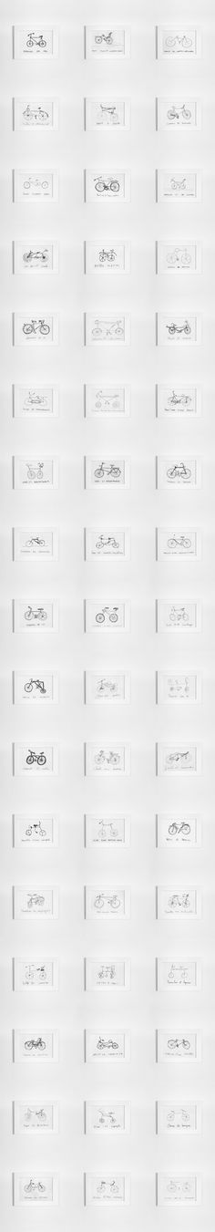I collected hundreds of drawings, building up a collection that I think is very precious. There is an incredible diversity of new typologies emerging from these crowd-sourced and technically error-driven drawings. Design Art, Graphic Design, Digital News, Branding, Design Furniture, Visual Communication, Drawing People, Bicycle, Behance