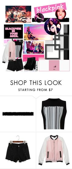 """""""BLACKPINK Boombayah"""" by ninaxo17 on Polyvore featuring Tim Holtz, Alexander Wang, Mossimo, kpop, yg, BlackPink and boombayah"""