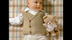 Chaleco de bebe tejidos con dos agujas
