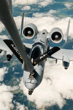 A10 getting refueled.