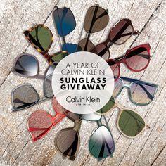 Enter to win a year's supply of Calvin Klein sunglasses. Calvin Klein, Sunglasses, Sunnies, Eyewear, Wayfarer Sunglasses, Eyeglasses