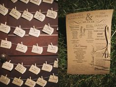 Seating Cards and Invitation  Photo by Two Birds Photography 2012