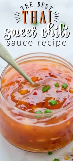 Thai Sweet Chili Sauce is an integral ingredient or accompaniment for making various Thai dishes. It can be used as a stir fry sauce or a dipping sauce. Thai Sweet Chili Sauce, Thai Sauce, Sweet Chili Sauce Recipe Easy, Thai Dipping Sauce, Stir Fry Sauce, What Is Chili Sauce, Chili Sauce Recipe Canning, Dipping Sauces, Sauce Recipes
