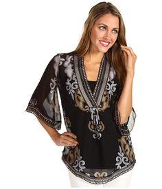 $94.99 ~ Hale Bob Joie De Vivre Kimono Sleeve Tunic