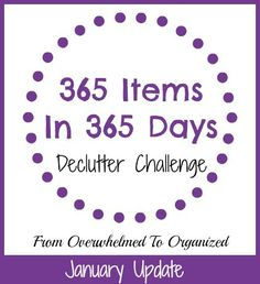 Need to declutter but don't know where to start? Check out what I've been decluttering this month for ideas and inspiration!  #365ItemsIn365Days  My 365 Items in 365 Days Update {January 2016} | From Overwhelmed to Organized