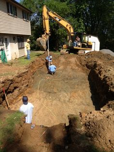 10:00 am the hole is almost dug and ready for a pool.