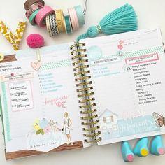 Fri-Sun planner pages for #listersgottalist using the Day Designer planner and Awakening ListersGottaList kit.  #trgplannerstylistteam