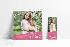 Communiekaart Kato - FluffyCloud Geboortekaartjes