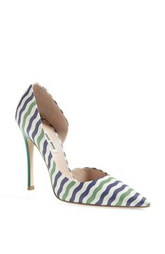 Miu Miu Nautical Stripe d'Orsay Pump available at #Nordstrom