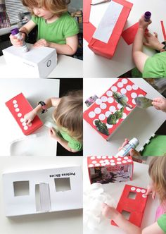 Kids Craft: Shoe Box Doll House by My Poppet