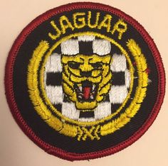 Jaguar Automobiles Logo Embroidered Patch Badge Tiger Round #Jaguar