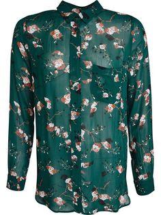 Marietta printet viskose skjorte