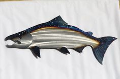 The Fish I have in stock Is A RIGHT FACING SALMON! I love this wall hanging! This is simple, but has just the right amount of detail to be very