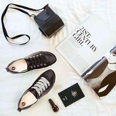ELLiE Sneaker in Black https://frankie4.com.au