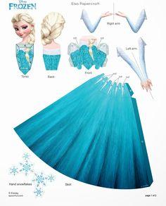 Frozen: Muñecas 3D de Papel para Imprimir Gratis.