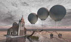 Visit this location at Binemist in Second Life I need a change. Second Life, Balloons, Change, Globes, Balloon, Hot Air Balloons