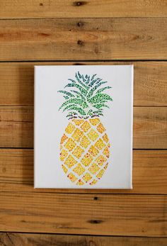 Excited to share the latest addition to my #etsy shop: Pineapple Acrylic Painting Prints #art #print #digital #yellow #green #pineapple #painting #prints #artprints