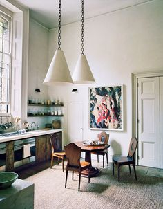 pendant lamps on cha