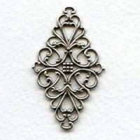 stampings plated silver (11) - VintageJewelrySupplies.com