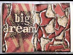 "Handmade by Yulianna: Art Journal Mixed Media ""Big dream"" + Video Tutorial"