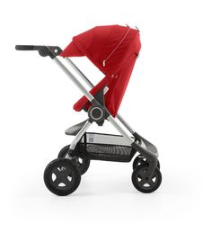 Beautiful Red Stroller for baby and kids... Stokke Scoot
