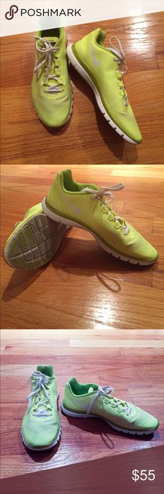 Nike. NIKE FREE 3.0 VJ-E Sneakers. Size: US 7.5. Nike. Women's. NIKE FREE 3.0 VJ-E Running Sneakers. Discontinued style. Size: US: 7.5. UK: 5. EUR: 38.5. Color: NEON YELLOW-GREEN. These super cool kicks are sure to turn heads wherever you go in them! No longer made; minimally worn, in impeccable shape—as you will be after you make this purchase and get back into that exercise routine you keep talking about! ...or are you just looking to bring a little something extra to your street style?…