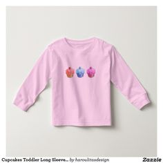 Cupcakes Toddler Long Sleeve T-Shirt