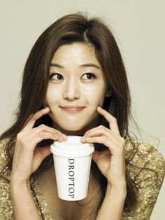 Jun Ji Hyun coffee ads, cute and innocent like naughty ange