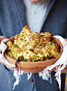 cauliflower and broccoli cheese with a twist! So good! No thyme for mum but could do with a little more for me.