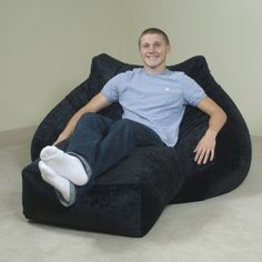 Adult Bean Bag Chair With Ottoman