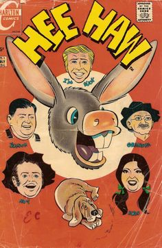 Hee Haw one of the best tv shows ever - Vintage Tv, Vintage Comics, Best Tv Shows, Favorite Tv Shows, Charlton Comics, Childhood Tv Shows, Vintage Television, Old Shows, Comic Book Covers