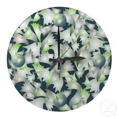 Customizable Green clocks from Zazzle. Choose a pre-existing design for your wall clock or create your own today! Green Wall Clocks, Wall Patterns, Green Leaves, Create Your Own, Plates, Tableware, Design, Home Decor, Licence Plates