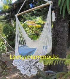 Chair hammocks / Chair swing /Hanging chair /Bohemian decor / Beige hammocks Christmas gift   cushions not included  All the photos in this store are original.   if you are bored of traditional chairs is time to switch to a This chair hammock, 100% handmade with cotton and high quality Wood. It is the most comfortable and fun chair, you can use it indoors or outdoors, This hammock chair is great for reading, watching TV, or good resting. This chair is great for any spaces in your house as…
