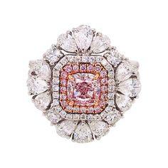 Diamond Rings With Price, Colored Diamond Rings, Pink Diamond Ring, Oval Diamond, Colored Diamonds, Diamond Jewelry, Pink Diamonds, I Love Jewelry, Fine Jewelry