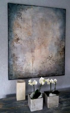 white painting 100 × 120 Sonja Bittlinger – Merys Stores - Sites new Abstract Oil, Abstract Wall Art, Abstract Landscape, Painting Inspiration, Art Forms, Modern Art, Art Projects, Original Art, Canvas Art