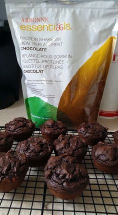 Yummy chocolate muffins. Made with only 5 ingredients. 3 scoops of Arbonne Chocolate Protein Powder 1 Tbs Cocoa 1 Tsp baking powder 1/4 cup egg whites 1/2 cup almond milk Mix and bake at 350 for 20-15 mins. Makes 4 per batch. Www.jaimeking.arbonne.com
