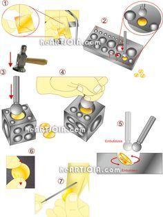 Doming tools - silver ring  http://heartjoia.com/6020-conformacao-discos-metal-calotes-esfericas
