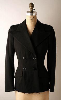 Yves Saint Laurent, Paris | Jacket | French | The Met, wool, silk, plastic, ss 71