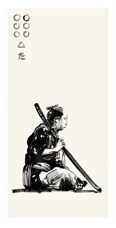 Akira Kurosawa's Seven Samurai - Shichiroji by Greg Ruth ✤ ||
