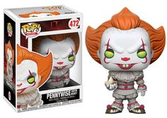 Pop! Movies: It The upcoming supernatural horror film Itbased on Stephen King's novel is releasing September, 2017!In anticipation for the upcoming film, the shape shifterand evil clown Pennywise is receiving the Pop! vinyl treatment!This series features Pennywise holding a boat.Look for the sepia chase versionof Pennywise, a 1-in-6 rarity!Available Now! In addition, look for exclusives coming this Summer.At Walmart look for Pennywise with wig! Pennywise with Balloon isavailable exclusively…