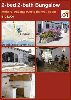 2-bed 2-bath Bungalow in Moraira, Alicante (Costa Blanca), Spain ►€125,000 #PropertyForSaleInSpain