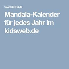 Mandala-Kalender für jedes Jahr  im kidsweb.de